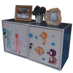 ขาย Piyalak Shop ตู้เซฟวินเทจ ตู้เก็บของ ตู้ข้างเตียง ตู้อเนกประสงค์ รุ่น Safe Box1 2 แพ็กคู้ 2 ตัว สีลายภาพการ์ตูน สีฟ้า Piyalak Shop ใน กรุงเทพมหานคร