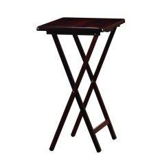 ส่วนลด Pj Wood Tv Tray โต๊ะพับไม้ยางพารา สีเอสเปรสโซ่ Pj Wood
