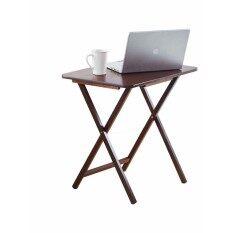 ราคา Pj Wood Personal โต๊ะพับไม้หน้าใหญ่ 45 7 66 Cm Walnut Pj Wood