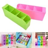 ขาย Plastic Organizer Storage Box For Tie Bra Socks Drawer Cosmetic Divider Blue Intl ใน จีน