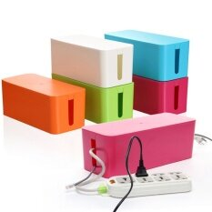ซื้อ Plastic Wire Storage Box Cable Manager Organizer Box Blue S Intl ใน จีน