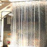 ราคา ราคาถูกที่สุด Pontus 3D 100 Eva Waterproof Water Repellent Shower Liner Curtain Odorless Mildew Resistant Non Toxic No Chemical Smell Antibacterial With Hooks Eco Friendly 71 71In Long Clear Creative Intl