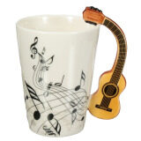 ราคา Porcelain Guitar Handle Shape Music Note Cup Coffee Tea Bottle Water Mug Gift Intl ราคาถูกที่สุด