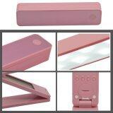 ส่วนลด Portable Folding Usb Rechargeable Eye Protection Dimmable Led Desk Table Wall Mounted Lamp Light With Digital Calendar Alarm Clock Pink Thinch ใน จีน