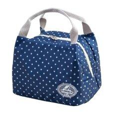 ขาย Portable Thermal Insulated Lunch Container Lunch Box Storage Bag Picnic Carry Totes Pouch Lunch Bag 7 Navy Dot Intl ออนไลน์ สมุทรปราการ