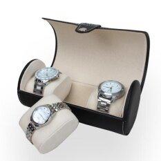 ส่วนลด Portable Travel Watch Case Roll 3 Slot Wristwatch Box Storage Travel Pouch Intl Unbranded Generic ใน จีน