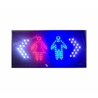 PP ป้ายไฟLED ห้องน้ำ ชาย หญิง รุ่น YW-30 LED SIGN ข้อความ อักษร ตกแต่งหน้าร้าน -