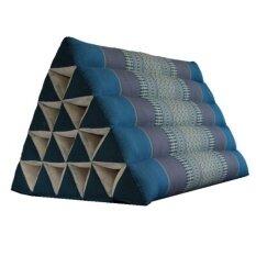 Praemai หมอนอิง สามเหลี่ยม 15 ช่องใหญ่ สีฟ้า เป็นต้นฉบับ