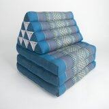 ขาย Praemai หมอนอิงพร้อมเบาะนอน หมอนสามเหลี่ยม 10 ช่อง 3 พับ สีฟ้า ผู้ค้าส่ง
