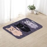 ซื้อ Printed Bathroom Kitchen Rugs Doormats Cat Carpet For Room Non Slip Mats A Intl
