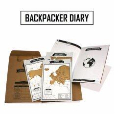 สมุดบันทึกนักเดินทางพร้อมแผนที่สำหรับขูด มีทุกประเทศทั่วโลก .