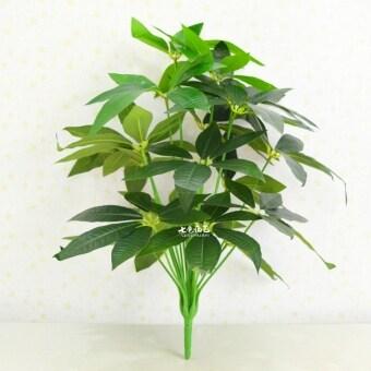 จำลองพืชเชื่อมโยงไปถึงกระถางต้นไม้ขนาดใหญ่พลาสติกดอกไม้ต้นไม้ปลอม
