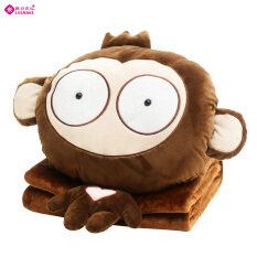 ราคา ใบหน้าน่ารักลิงอุ่นมือหมอนผ้าห่ม Unbranded Generic เป็นต้นฉบับ