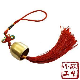 ทองแดงบริสุทธิ์โบว์จีนกระดิ่งลมกระดิ่งทองแดงสไตล์ชนบท水铃แขวนตกแต่งเครื่องประดับประตูทองแดงโลหะสไตล์ญี่ปุ่นกระดิ่งลม