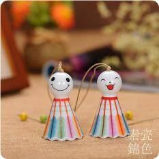 ราคา แดดตุ๊กตาที่มีสีสันสไตล์ญี่ปุ่นลมตีระฆังลมตีระฆังเซรามิก เป็นต้นฉบับ