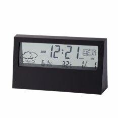 ราคา นาฬิกา ดิจิตอล นาฬิกาปลุก ปฏิทิน เครื่องวัดอุณหภูมิ สีดำ ที่สุด