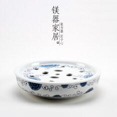 วงกลมขนาดใหญ่แตรไม้ไผ่ทะเลชาถาดน้ำชา.