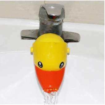 ที่ต่อก๊อกน้ำล้างมือสำหรับเด็ก รูปสัตว์ (เป็ดเหลือง)