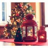 ซื้อ ตะเกียง ตะเกียงเทียน ตะเกียงแขวนสไตล์ยุโรปหรูโรแมนติก ของประดับเทศกาลแห่งความรัก สีแดง Christmas Gifts