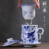 ขาย ถ้วยสีฟ้าและสีขาวพอร์ซเลนแก้วที่มีตัวกรอง Unbranded Generic เป็นต้นฉบับ