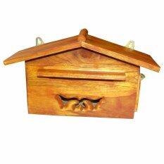 โปรโมชั่น ตู้รับจดหมาย ตู้จดหมาย ไม้สัก สำหรับเก็บจดหมายหน้าบ้าน ผลิตจากไม้สัก กรุงเทพมหานคร