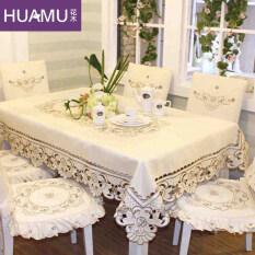 ซื้อ สไตล์ยุโรปปักโต๊ะรับประทานอาหารผ้าดอกไม้และต้นไม้ ถูก