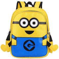 ขาย ซื้อ ขนาดเล็กสีเหลืองคนกระเป๋าเป้การ์ตูนกระเป๋านักเรียนชายพิมพ์เด็ก ใน ฮ่องกง