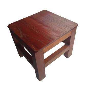 เก้าอี้ไม้สัก 9 x 9 นิ้ว สีย้อม-