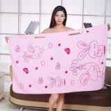 ราคา ผ้าขนหนูอาบน้ำไมโครไฟเบอร์ สีชมพู Unbranded Generic กรุงเทพมหานคร