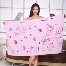 ซื้อ ผ้าขนหนูอาบน้ำไมโครไฟเบอร์ สีชมพู