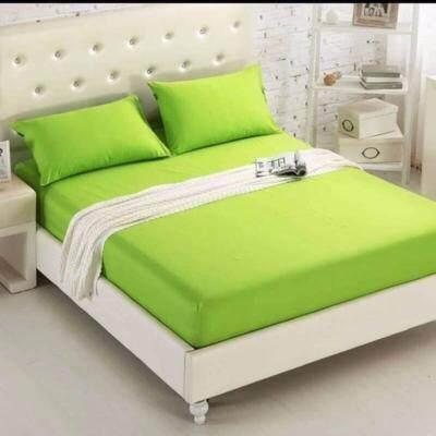 ราคา Product Details Of Dl ผ้าปูที่นอน 6 ฟุต 5 ชิ้น เกรด A สีพื้นเขียวมะนาว ใหม่