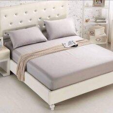 ซื้อ Product Details Of Dl ผ้าปูที่นอน 6 ฟุต 5 ชิ้น เกรด A สีพื้นเทาอ่อน ออนไลน์ กรุงเทพมหานคร