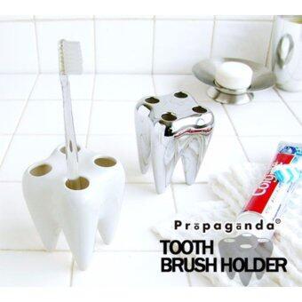 Propaganda TOOTHBRUSH HOLDER WHITE ที่ใส่แปรงสีฟัน สำหรับตกแต่งห้องน้ำดีไซน์รูปฟัน (สีขาว)