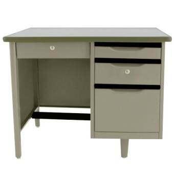 PT โต๊ะทำงานเหล็ก ขนาด 3.5 ฟุต รุ่น TM-3.5 (สีเทา)
