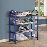 โปรโมชั่น Pudding Home Assemble Shoe Rack Storage Blue Intl Unbranded Generic