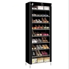 ราคา Pudding Korean Multi Function Storage Shoe Cabinet Black Intl ใน จีน