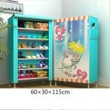 ขาย Pudding Multilayer 3D Panorama Diy Storage Shoe Cabinet Blue Intl ออนไลน์ จีน