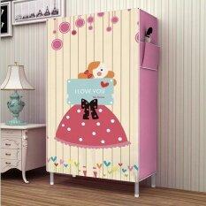 Pudding Multilayer 3D Panorama Diy Storage Shoe Cabinet Pink Intl ใน จีน