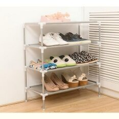 ซื้อ Pudding Stainless Steel Multifunctional Storage Rack Shoe Cabinet Silver Intl Unbranded Generic เป็นต้นฉบับ