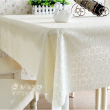 โปรโมชั่น Pvc Tablecloth Plastic Cover Dining Coffee Tea Table Waterproof Cloth 137 X 240Cm Flower Cream Intl จีน