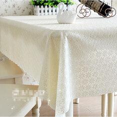 ราคา Pvc Tablecloth Plastic Cover Dining Coffee Tea Table Waterproof Cloth 137 X 240Cm Flower Cream Intl ออนไลน์