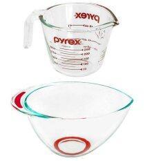 ทบทวน Pyrex ชุดถ้วยตวงขนาด250Ml ชามผสมอาหาร 2 5Lp 00 508N 1072157 Pyrex