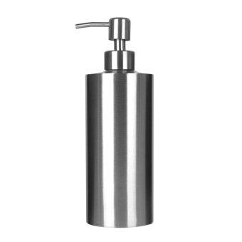 Q-shop(550ml)Soap Dispenser Countertop Foaming Foam Pump Stainless Steel Lotion Bottle - intl