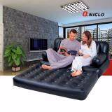 ราคา Qniglo Inflatable Sofa Multi Functional Couch Daybed Lounger Airbed Pull Out Sofa Couch Full Double Air Bed Mattress Seat Black Unbranded Generic ใหม่