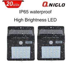 ขาย Qniglo ไฟภายนอกอาคาร Waterproof Wireless Solar ไฟ Spotlight With Motion Sensor(Pack Of 2) ใน กรุงเทพมหานคร
