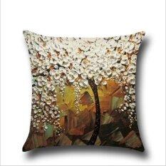 ราคา Qq Oil Painting Pillow Case White Intl ใหม่ ถูก