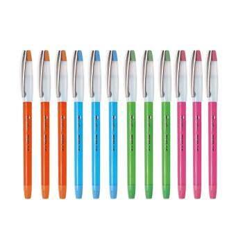Quantum ปากกา ปากกาลูกลื่น มิลค์กี้ 0.5 น้ำเงิน จำนวน 12 ด้าม