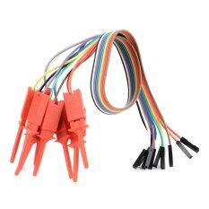 ราคา Quick Wire Connection Clip For Logic Analyzer Test Red 10 Pcs ที่สุด