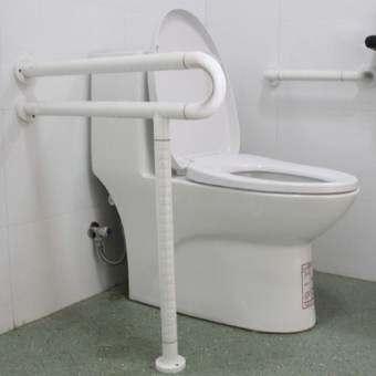 ราวจับห้องน้ำคนพิการ รุ่นตัว P สีขาว-