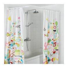 ซื้อ ราวม่านห้องน้ำ ปรับได้เข้ามุม 3แบบ อลูมิเนียม สีขาว Happyhome ถูก ไทย